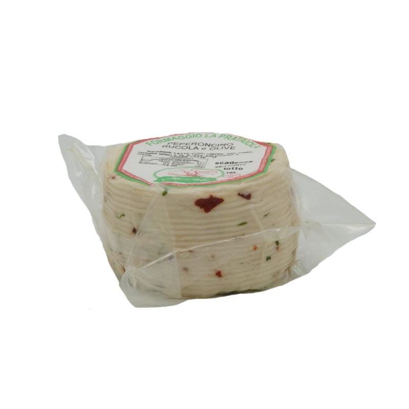 formaggio fresco di pecora con peperoncino, rucola e olive Gusto Sele top